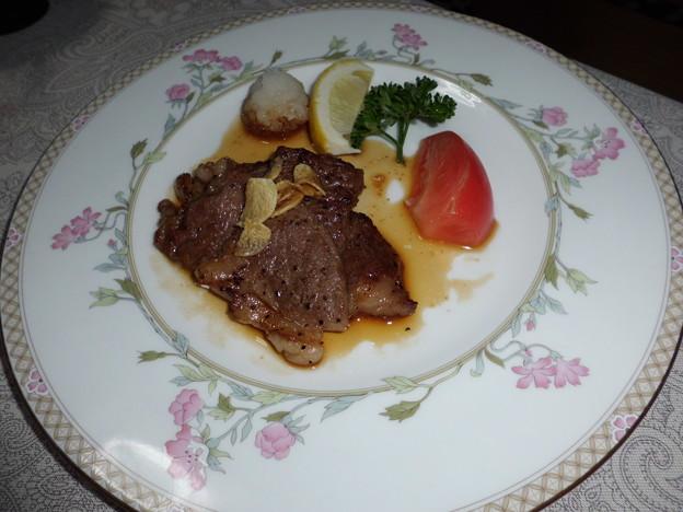 米沢牛サーロインステーキ(・ω・っ彡