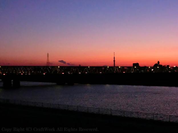江戸川のたそがれ2