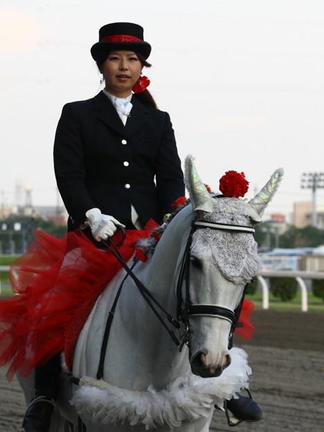 写真: 川崎競馬の誘導馬05月開催 カーネーションVer-120516-04-large