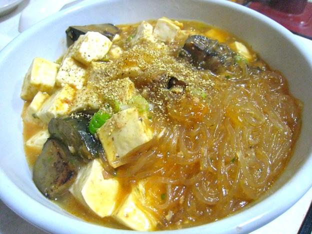 Photos: 麻婆豆腐in揚げなすin春雨…