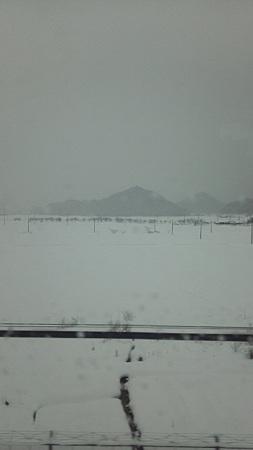 新幹線の車窓から、関ヶ原あたりかな3