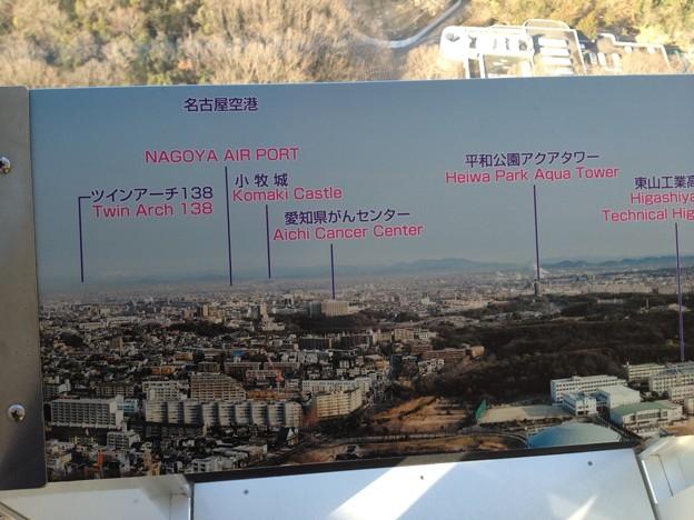 東山スカイタワー_47:展望室からの景色(案内板)
