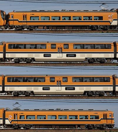 近鉄30000系30201F(V01)海側側面 2011.11.13