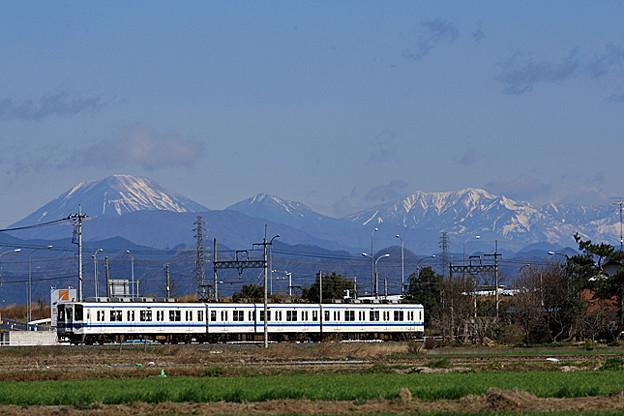 800型 と 日光連山