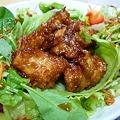 写真: 大阪王将の食べるラー油と鉄ラー油入り餃子のタレを使って