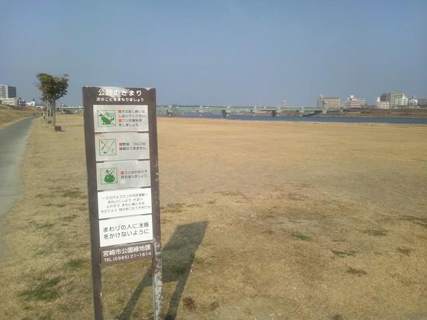 大淀川河川敷の公園2
