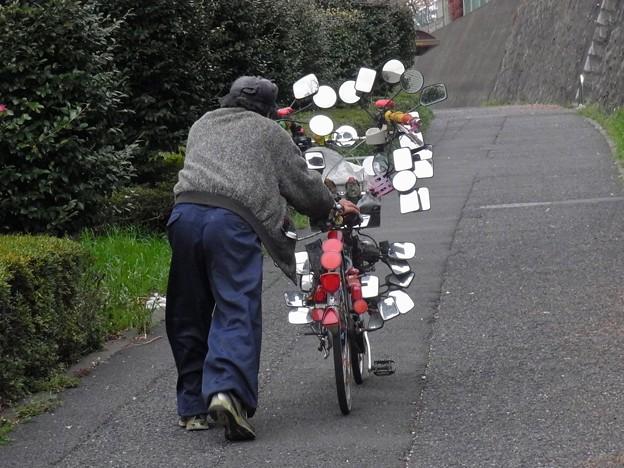 写真: 最強40面鏡死角なし全方向観覧可能Super自転車3