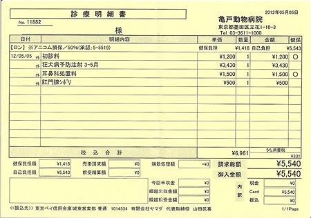 医療費 201205051