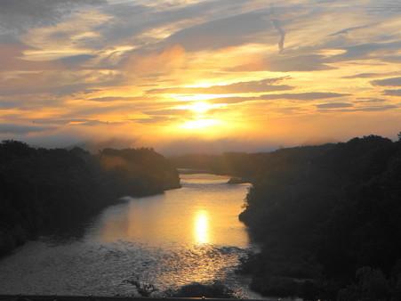 矢作川の日の出