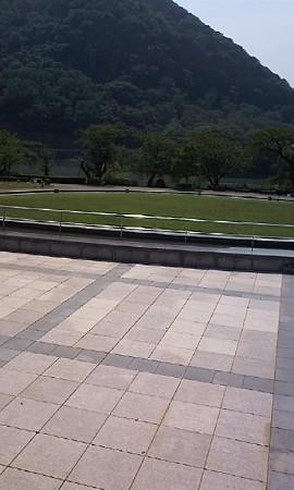 一日目の宿泊場所、津久井湖...