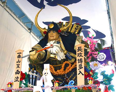博多祇園山笠 2011 舁き山 西流 長政博多入(ながまさはかたいり)2
