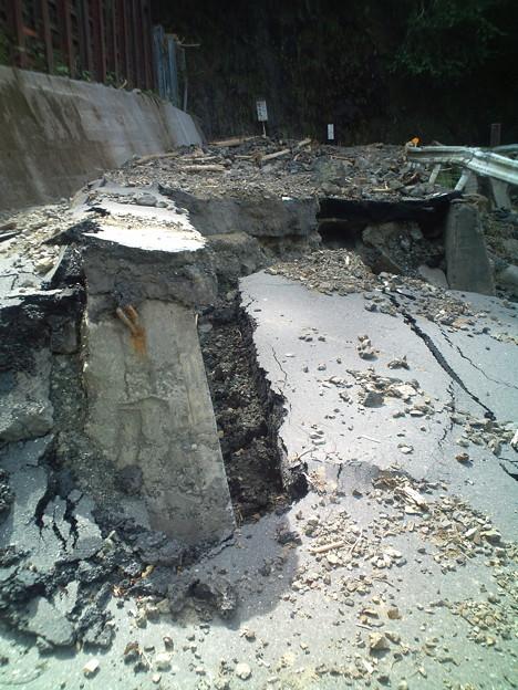 台風12・15号による道路の陥没5