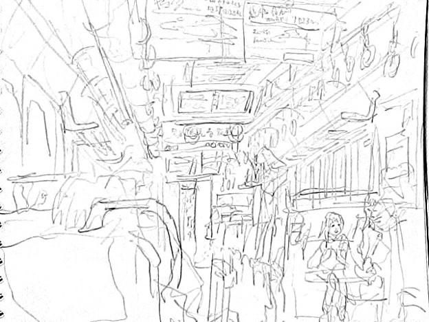 写真: 車内2 #sketch365
