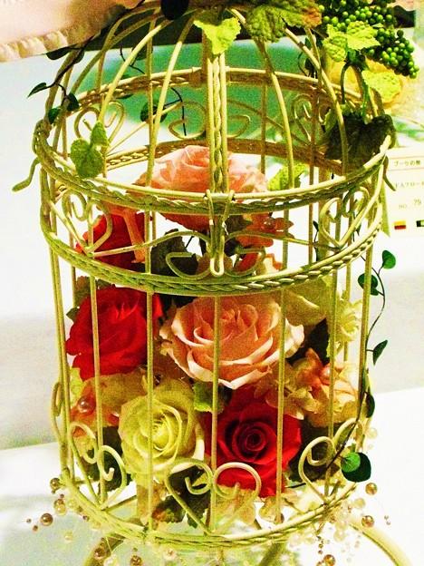 鳥籠を使った花籠★