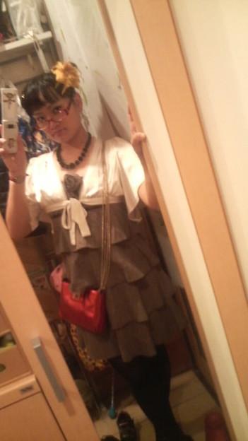 写真: せっかくなので今日のドレス?とか。