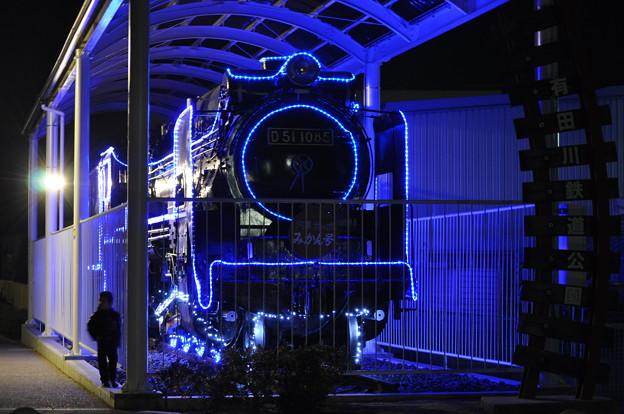 D51蒸気機関車の実物展示