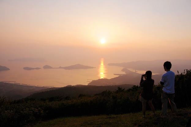 大星山からの夕景