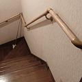 Photos: 階段手すりの取り付け