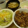 松屋牛めし+野菜セット