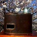 Photos: 燗銅壺で花見 そろそろ燗酒も良い感じ