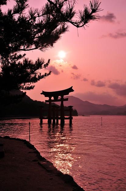 宮島の夕日サンセット。。。?
