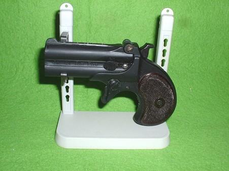 LSプラモデル「レミントン ダブル デリンジャー」 完成品を付属スタンドにセットDoburoku-TAO