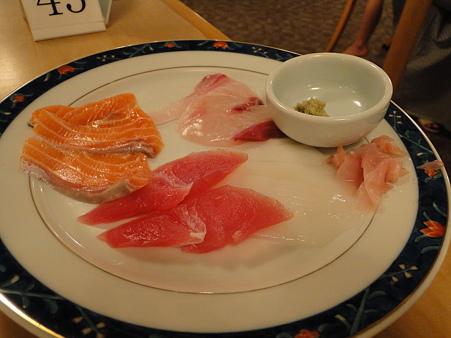 刺身キター本当は海鮮丼なのだが